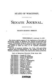 Cover of: Journal of Proceedings by Wisconsin Legislature . Senate