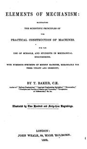 Cover of: Elements of mechanism by Thomas Baker