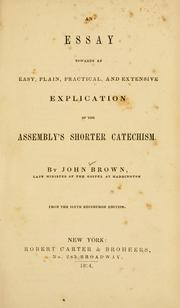 Cover of: An essay towards an easy, plain, practical and extensive explication of the Assembly's shorter catechism by Brown, John