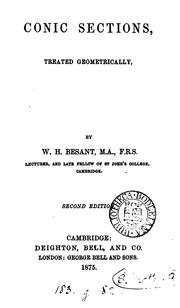 Cover of: Conic sections, treated geometrically by William Henry Besant