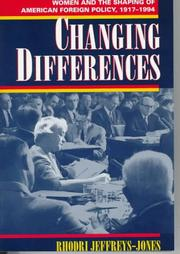 Cover of: Changing differences | Rhodri Jeffreys-Jones