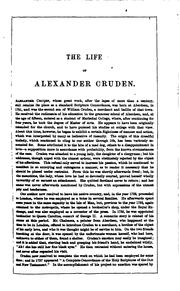 Cover of: A complete concordance to the sacred Scriptures, slightly condensed by Alexander Cruden