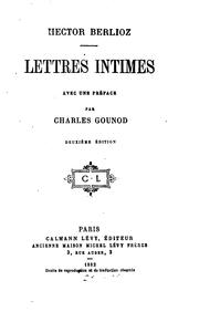 Cover of: Lettres intimes by Hector Berlioz