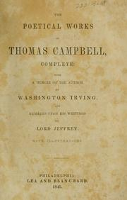 Cover of: The poetical works of Thomas Campbell by Thomas Campbell