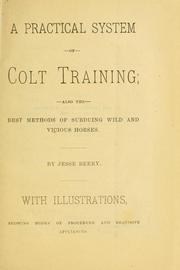 Cover of: A practical system of colt training | Jesse Beery