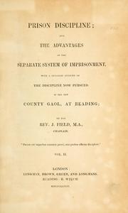 Cover of: Prison discipline by J. Field