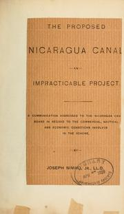 Cover of: The proposed Nicaragua canal an impracticable project | Joseph Nimmo