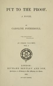 Cover of: Put to the proof | Caroline Fothergill