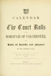 Cover of: Repertory of the records & evidences of the Borough of Colchester by Henry Harrod