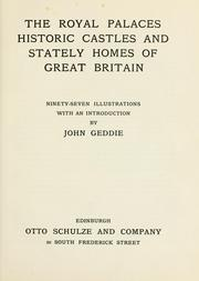 Cover of: The royal palaces, historic castles and stately homes of Great Britain by John Geddie