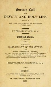 Cover of: A serious call to a devout and holy life by Law, William