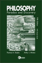 Cover of: Paradox & Discovery with Study Guide by Thomas A Shipka