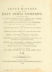 Cover of: A short history of the East India Company by Francis Russell