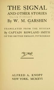 Cover of: The signal, and other stories by V. M. Garshin