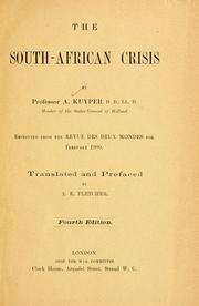 Cover of: The South-African crisis | Abraham Kuyper