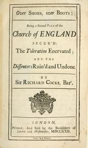 Cover of: Church of England secur'd by Cocks, Richard Sir