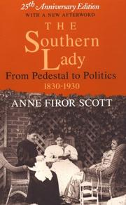 Cover of: The Southern lady | Anne Firor Scott