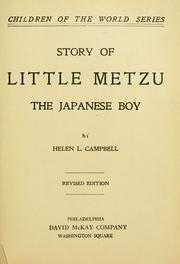 Cover of: Story of little Metzu | Helen M. Campbell