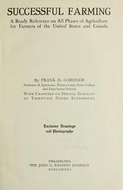 Cover of: Successful farming | Frank D. Gardner