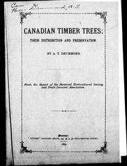 Cover of: Canadian timber trees | A. T. Drummond