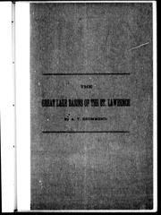 Cover of: The Great Lake basins of the St. Lawrence | A. T. Drummond