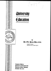 Cover of: University education | George Bryce