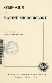 Cover of: Symposium on Marine Microbiology | Symposium on Marine Microbiology (1961 Chicago)