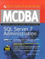Cover of: MCDBA SQL Server 7 Administration Study Guide (Book/CD-ROM Set) by Syngress Media