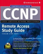 Cover of: CCNP(TM) Remote Access Study Guide (Exam 640-505) by Syngress Media