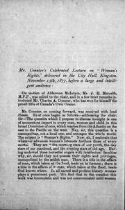 Cover of: Woman's rights by Charles A. Counter
