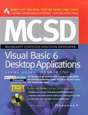 Cover of: McSd Visual Basic 6 Desktop Applications Study Guide | Syngress Media