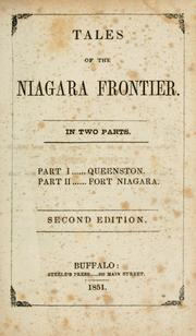 Cover of: Tales of the Niagara Frontier | Jesse Walker