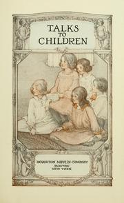 Cover of: Talks to children | Packard, Alice Mrs.