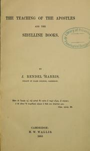 Cover of: Teaching of the Apostles and the Sibylline books | J. Rendel Harris