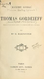 Cover of: Thomas Gordeieff | Maksim Gorky