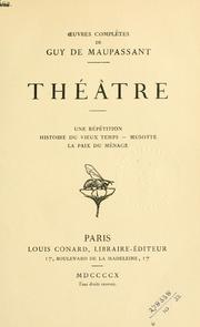 Cover of: Théâtre | Guy de Maupassant