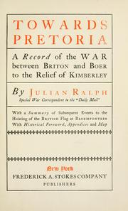 Cover of: Towards Pretoria by Ralph, Julian