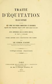 Cover of: Traité d'équitation illustré by Antoine d' Aure