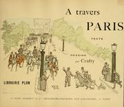 Cover of: A travers Paris by Crafty