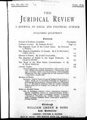Cover of: The federal constitution of Canada | Bourinot, John George Sir