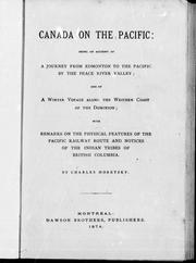 Cover of: Canada on the Pacific | Charles Horetzky