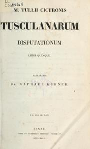 Cover of: Tusculanae disputationes | Cicero