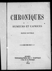 Cover of: Chroniques | Arthur Buies