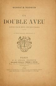 Cover of: Un double aveu | Gustave Nadaud