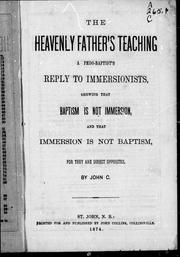 Cover of: The heavenly father's teaching | John Collins