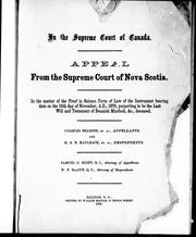 Cover of: In the Supreme Court of Canada | Charles Beamish