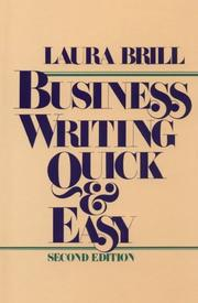 Cover of: Business writing quick & easy by Laura Brill