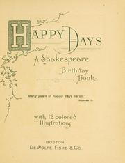 Cover of: Happy days! | William Shakespeare