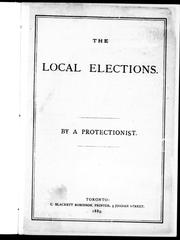 Cover of: The local elections | Protectionist