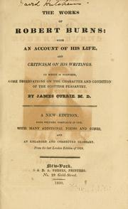 Cover of: The works of Robert Burns by